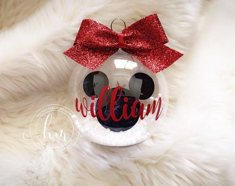 personalized floating mickey mouse ornament