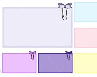 Half boxes with paperclip bow - png graphics great for make stickers with cut machines.