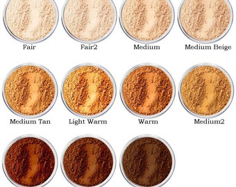 Mineral Makeup Foundation Bare Pure Minerals Magic Coverage Natural Powders in 40ml Sifter Jar, 10 grams net by Intelligent Cosmetics