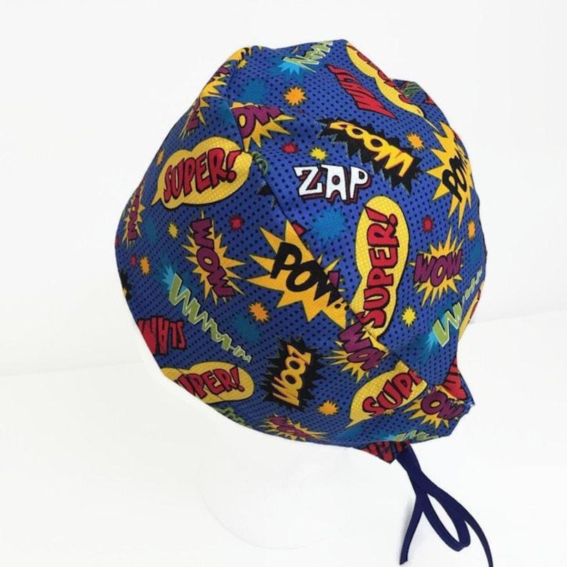 1fbf6d6e7f3 Scrub Cap Wow Pow Uni Scrub Hat Surgical Scrub Cap OR Hats