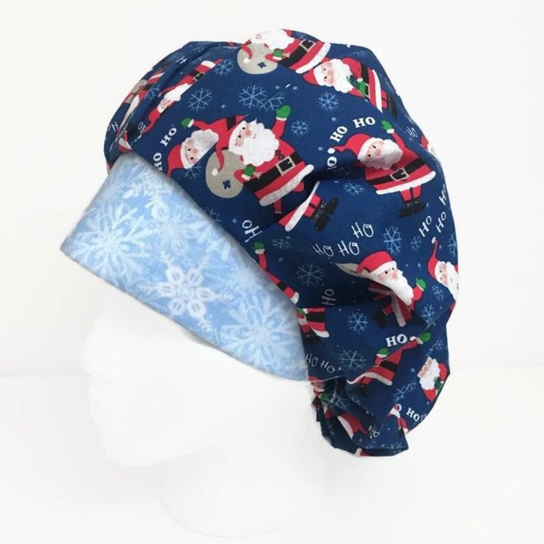 5720be3319c65 Ho Ho Ho Christmas Bouffant Scrub Hat Scrub Cap OR Hats