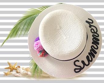 White Summer Boater Hat  5e27510535b9