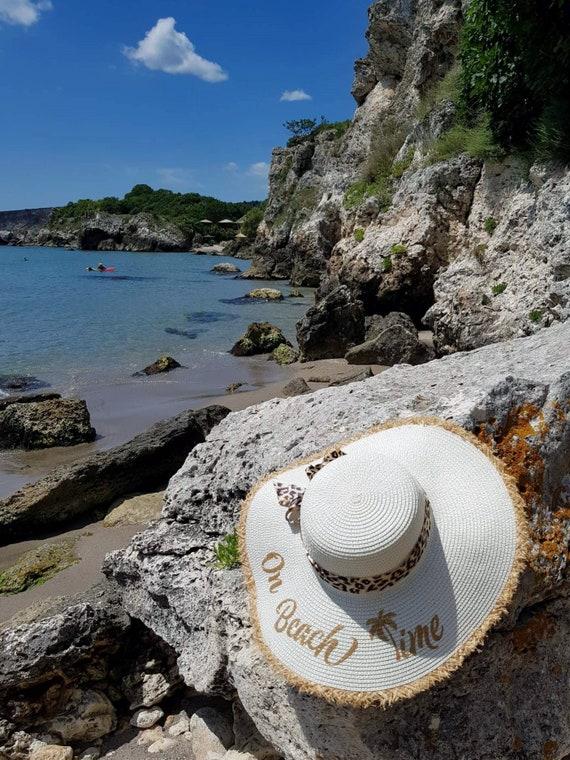 d9ed14e7b8c On Beach Time Hat Glitter Hat Packable Sun Hat Custom