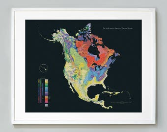 Map tapestry etsy north america tapestry of time and terrain geologic map giclee print museum quality educational chart gumiabroncs Images