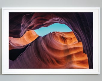 Desert Landscape Canvas Prints Antelope Slot Canyon Art Rocks Posters Painting Wall Large Wild Land Pictures Boho Decor 12x16 30x40cm x3 Unframed