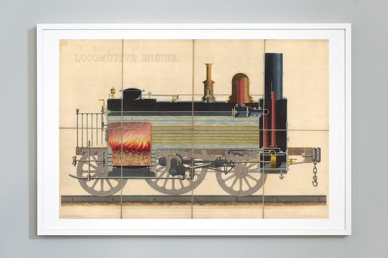 Admirable Train Print Locomotive Engine Train Diagram Print Steam Etsy Wiring Database Aboleterrageneticorg