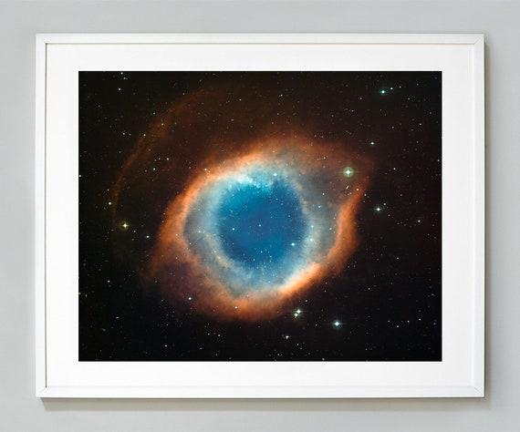 "17/"" x 22/"" Fine Art Print 00018 Helix Nebula Planetary Fog Space Eye Astronomy"