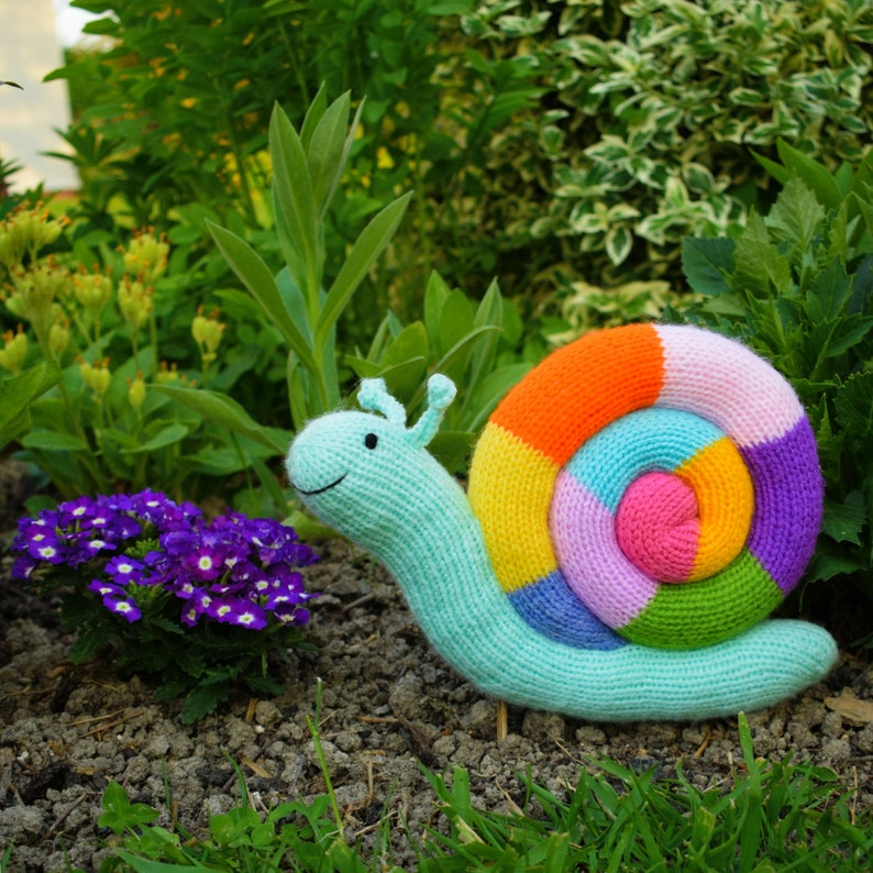 Jimmy Snail knitting pattern PDF instant download knitted ...