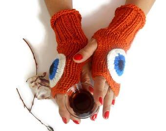 Knit fingerless gloves, Women fingerless gloves, Crochet fingerless gloves, Fingerless Mittens, Hand knit gloves, Knit mittens, Hand warmers