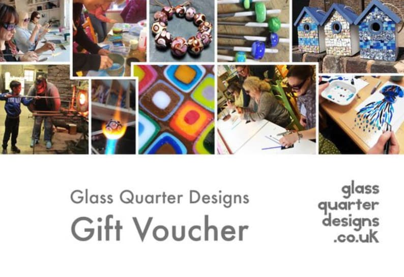 A Gift Voucher for Workshops Glass Worksop Vouchers Unique image 0