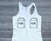 Breastfeeding Shirt, Nursing Tank Top, Funny Milk Maid Shirt, Milk Carton Shirt, Mommy 39 s Milk, EBF Mom Shirt, New Mom Gift