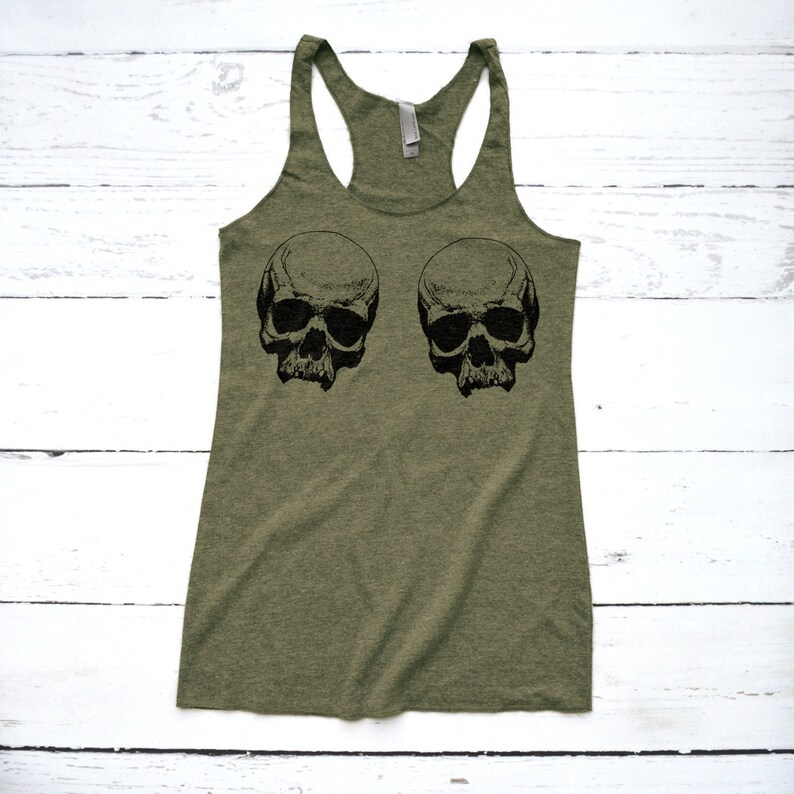 d17fa8630900 Skull Shirt Skull Boobs Tank Top Pirate Shirt for Women