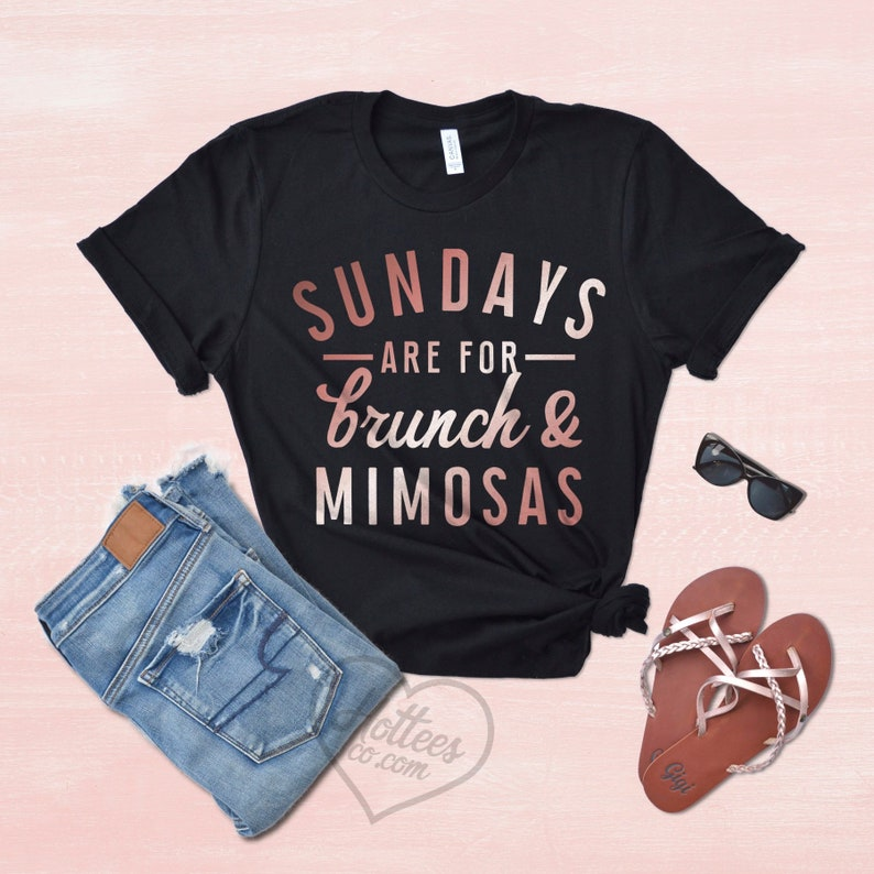 99f863359 Brunch Shirt Sundays Are For Brunch and Mimosas Sunday   Etsy