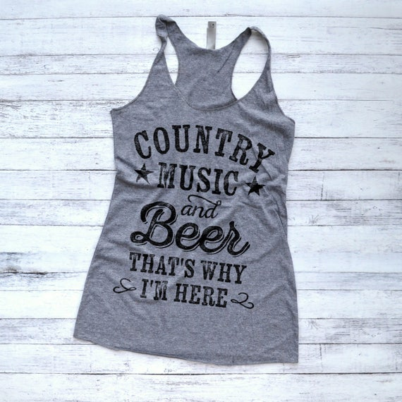 Cowboys Trucks and Country M Country Music and Beer That/'s Why I/'m Here T-Shirt