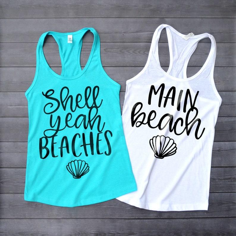 5621158893b19 Mermaid Bachelorette Shirts Shell Yeah Beaches Tank Top