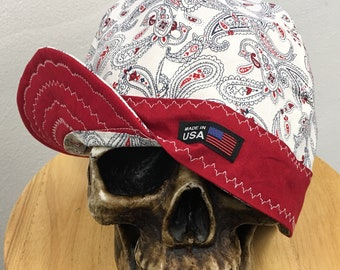 WELDING CAP WITH   RAIDERS WITH  WHITE BACK GROUND FABRIC