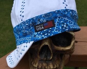 93b6a5e9d6c32 Bandana Banders - ROYAL BLUE Bandana - Reversible - 100% Cotton Welding Cap