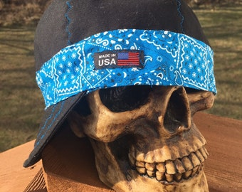 Black Bandana Banders - ROYAL BLUE Bandana - Reversible - 100% Cotton  Welding Cap 3aedee6aa339