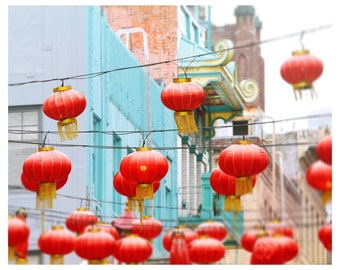 San Francisco photography, California, Chinatown, red lanterns, street photography, urban wall art, fine art photography, travel photography