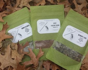 Sip Wild Suite: Organic Gift Tea Set w/Certified Organic Honey Sticks