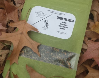 Umami Tea Broth -- Genmaicha Macha Tea w/Umami Spice