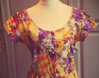 Beautiful vintage summer dress size 14