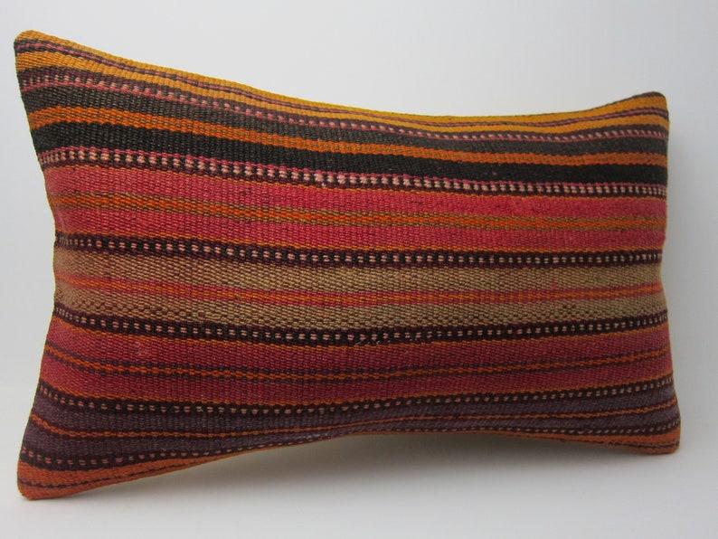 12x20 boho kilim throw pillow cover burlap bedroom outdoor cushion case lumbar natural aztec linen decorative embroidered turkish rectangle