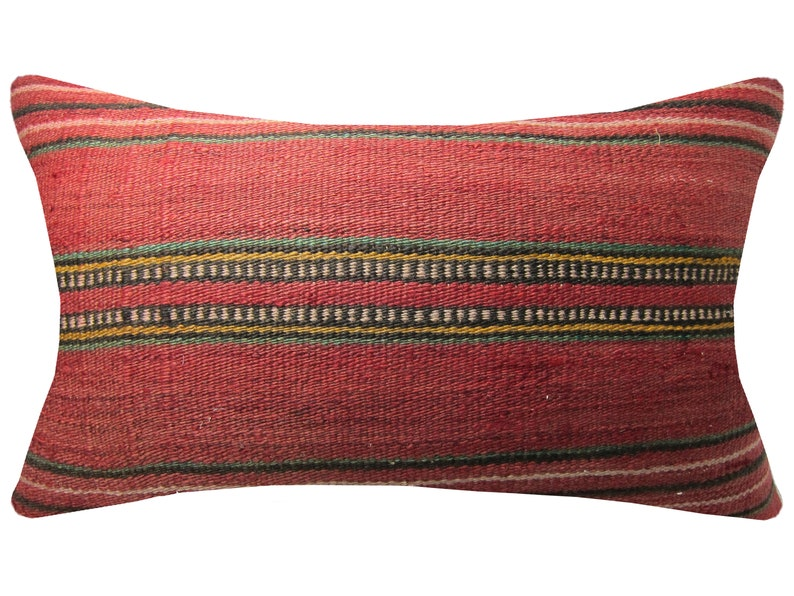 16x24 lumbar kilim pillow covers red yellow throw custom floor outdoor cushion boho linen bohemian case embroidered home bedroom wedding