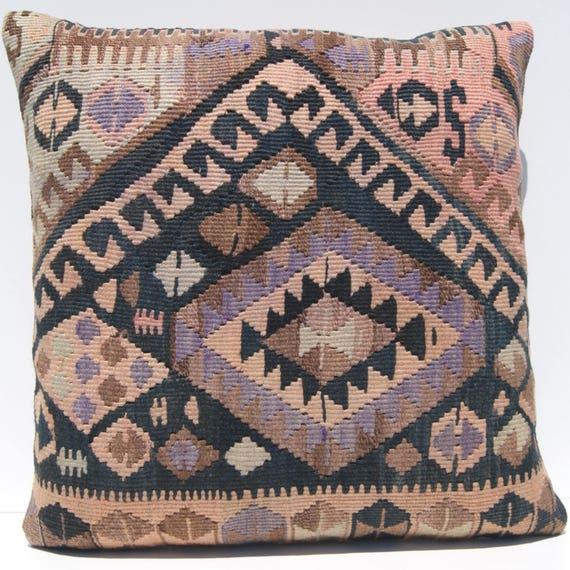 Room Decor Kurdish Kilim Rug Pillow Case Square Hand Woven