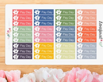 bank pay day stickers| payday stickers |piggy bank pay day| planner stickers| FL005