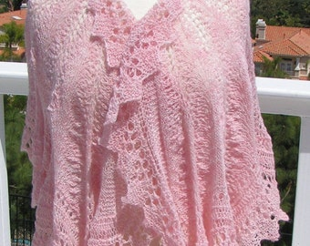 Hand-knitted Victorian Lace Capelet
