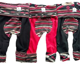 Bohemian Teal Maxaloones Baby Pants Baby Leggings Boho Grow With Me Pants Toddler Pants Circle Bum Pants Leggings