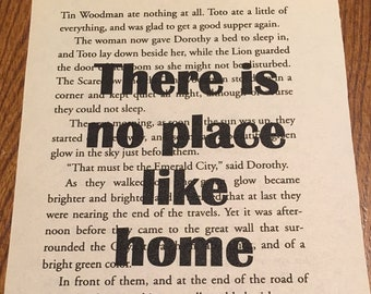 Wizard of Oz Book Quote: There is no place like home