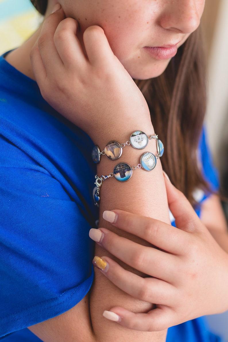 Custom Wrap Bracelet Photo Charm Bracelet Personalized Picture image 0