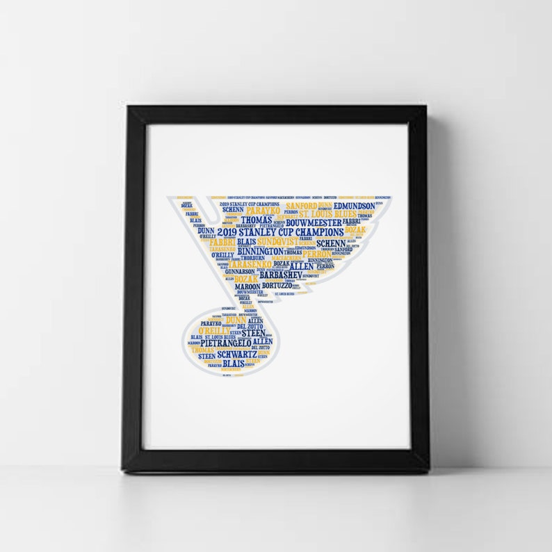 picture about St Louis Blues Printable Schedule called St Louis Blues 8x10 Printable Artwork St Louis Blues Hockey Print 2019 Stanley Cup Blues Hockey Workers Person Cave Hockey Artwork St Louis