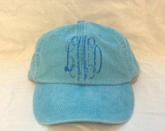 Hat with Vinyl Monogram Intials