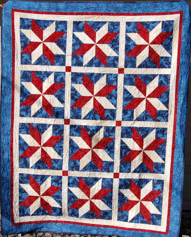 PAPER Yankee Doodle Stars Quilt Pattern