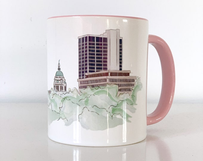 Featured listing image: Fort Wayne Skyline Mug - Pink