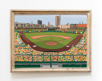 Fort Wayne Tin Caps Baseball Parkview Field - Illustrated Art Print