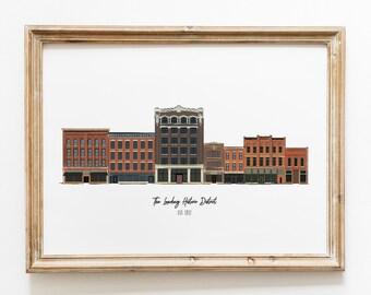 Fort Wayne Historic Landing District Art Print