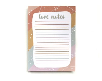 Love Notes Notepad - 100 pages - Hand Drawn Illustration