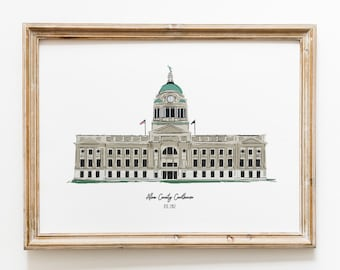 Fort Wayne Indiana Courthouse Art Print