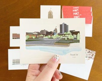 Fort Wayne Illustrated Notecard Set