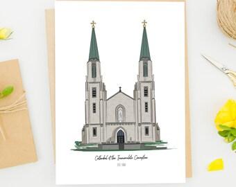 Fort Wayne Cathedral Art Print