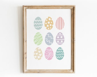 Easter Egg Art Print - Hand Drawn Illustration