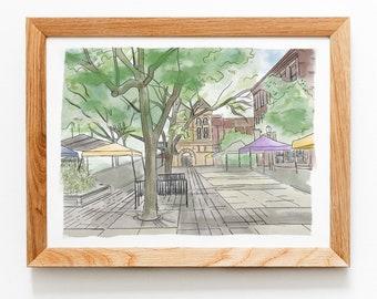 Fort Wayne Indiana Farmer's Market Art Print