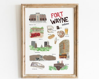 Fort Wayne Favorites Art Print