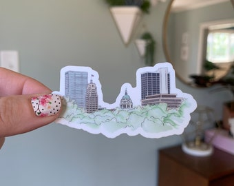 Fort Wayne Illustrated Skyline Vinyl Sticker