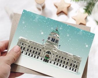 Allen County Courthouse Holiday Card w/Envelope