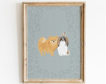 Pet / Animal Portrait - Illustrated Art Print